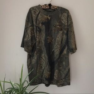 Vintage Army Camo T-shirt Oversized